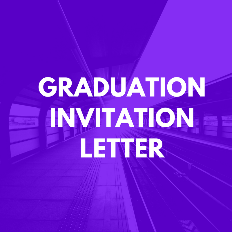 Graduation Invitation Letter for UK visa Sample Invitation Letters